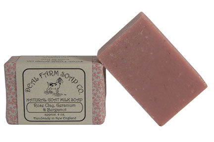 Rose Clay, Geranium and Bergamot Goat Milk Soap